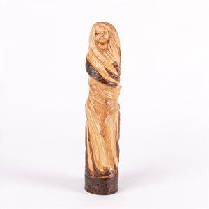 Joyeuse tornade, sculpture en bois d'aulne