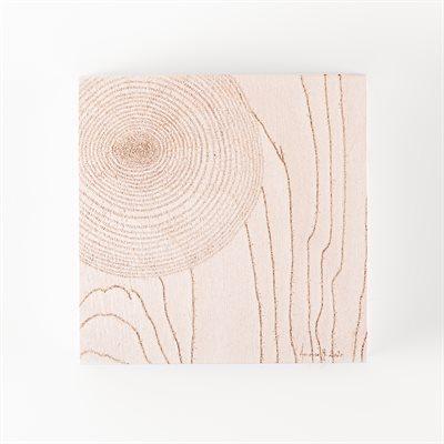 Couler entre les obstacles, pyrogravure sur bois