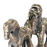 Une mère et son poulain, bronze
