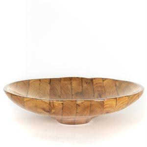 Bol en bois de grange sculpté