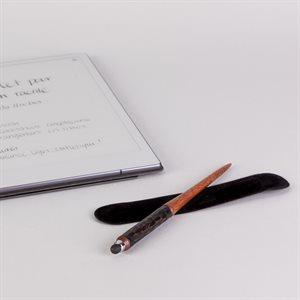 Stylus for touchscreen, mahogany