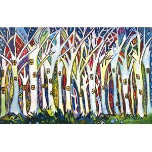 Forêt habitée, carte de souhaits