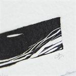 CHENAL, linogravure sur papier fait main, non encadrée
