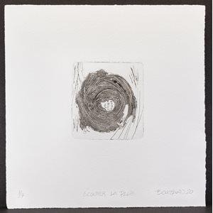 LISTEN TO THE RAIN, engraving, intaglio and relief, unframed