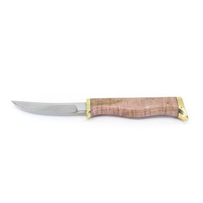 Couteau en érable coti stabilisé et teinté rose