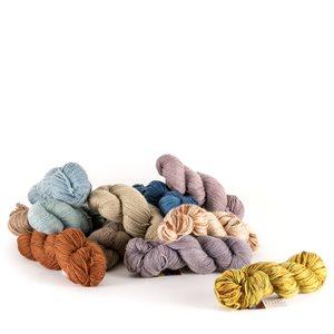 Écheveaux de laine, 100% mérino bio, teinture végétale