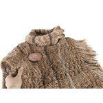 Châle tricoté à la main en laine d'alpagas et bouton de bois