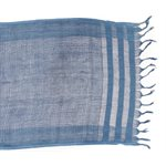 LINO, silk and cotton scarf, vegetable dye