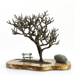 Coin de lecture, Arbre en acier soudé sur base en bois