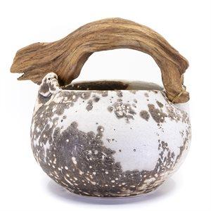 Jarre en céramique, cuisson OBVARA, ornement de bois flotté