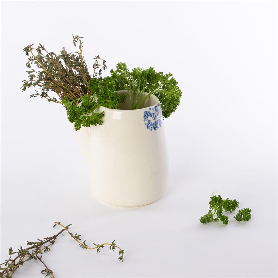 Pot à fines herbes Glitch, céramique et décalque citronnier