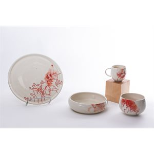 Ceramic tableware set, Aorta collection