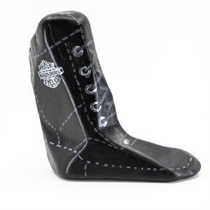 Roche peinte en botte Harley Davidson pouvant servir d'arrêt de porte