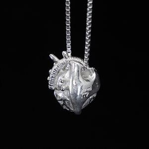 Anatomy, silver pendant