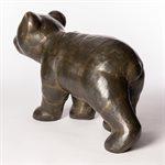 L'ours à Léandre, laiton chaudronné
