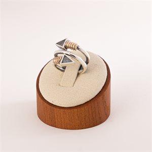 Bague de type ressort en argent sterling avec spirales en or 14K et flèches