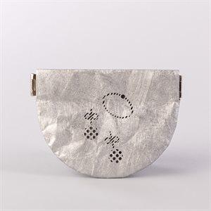 Portemonnaie en tyvek, modèle bijoux, argent et gris
