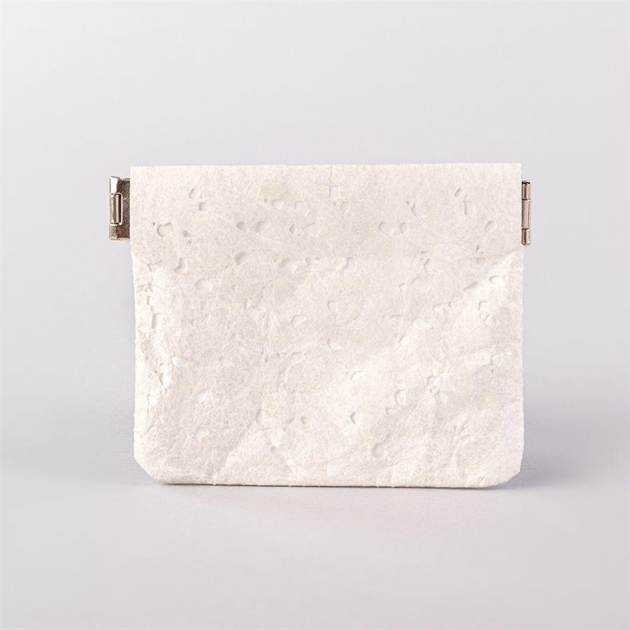 Portemonnaie en tyvek, modèle flocon, blanc