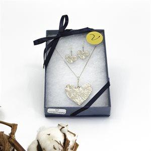 Ensemble cadeaux - Bijoux feuilles de Viola