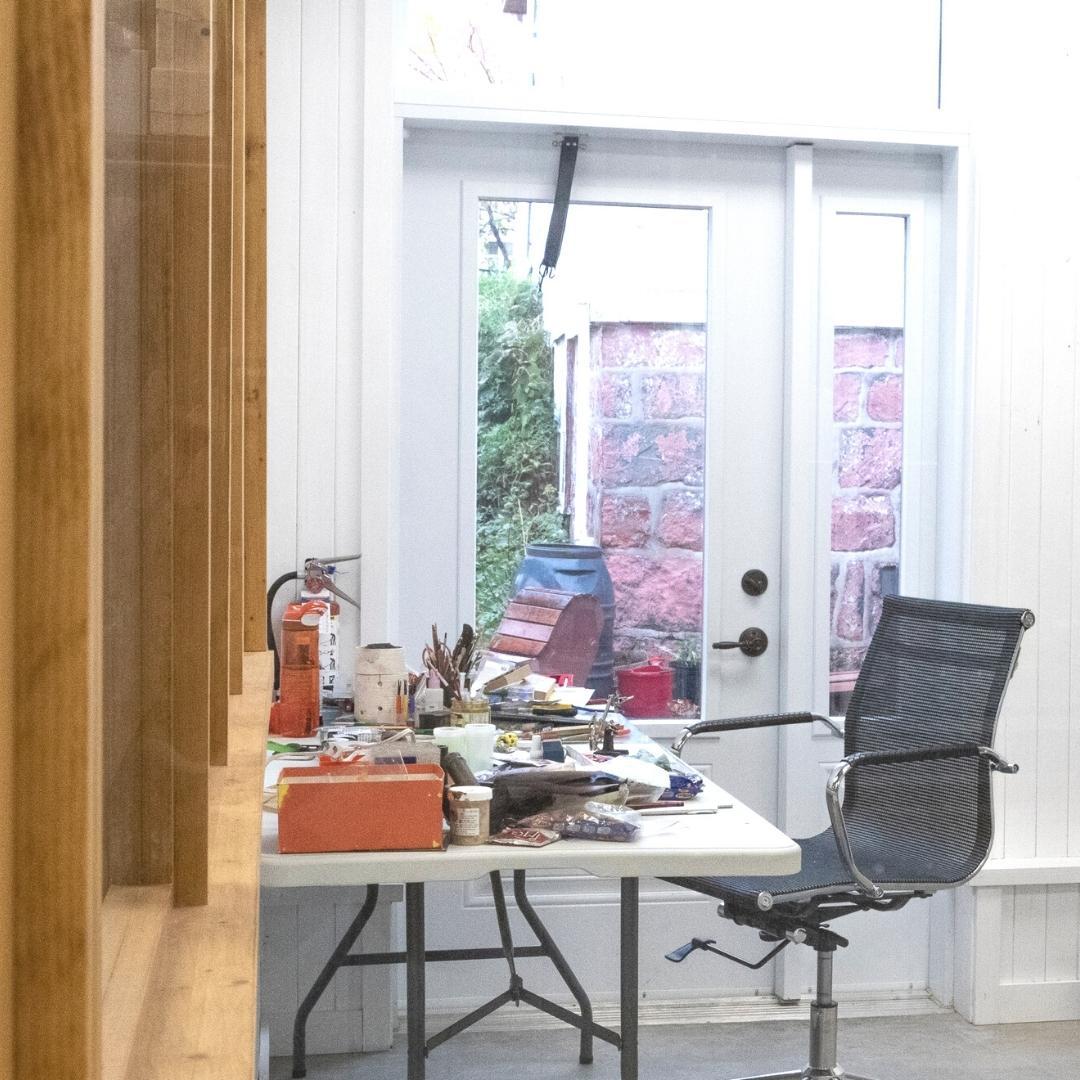 Vu de l'atelier d'artiste du Vivoir bientôt disponible en location